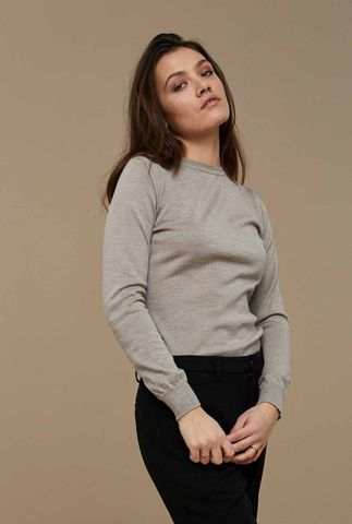 gebreide merino wollen trui met ronde hals lisa round neck c