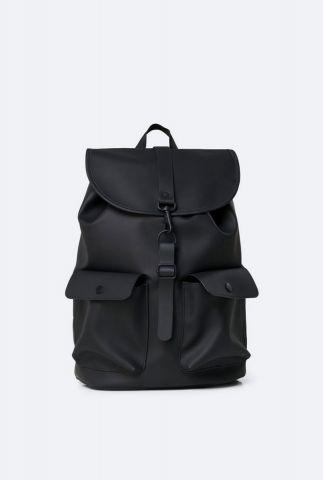 zwarte rugtas met vakken camp backpack 1341