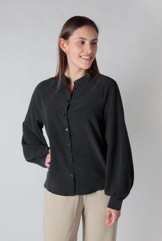 zachte zwarte blouse met ballon mouwen carlinna