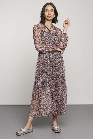 maxi jurk met all-over bloemen print dr goldie