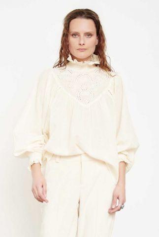 off white blouse met opengewerkte details hillary