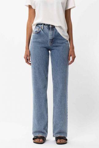 high waist straight jeans clean eileen gentle fade 113632