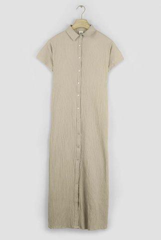 maxi jurk met ingeweven structuur rose 3052317
