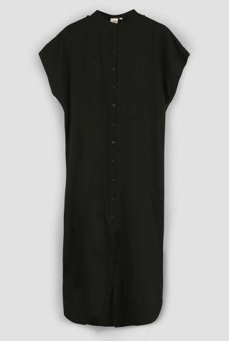 zwarte maxi jurk met knoopsluiting sky 3052315