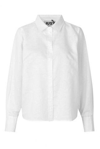duurzame witte blouse met klassieke kraag collin shirt