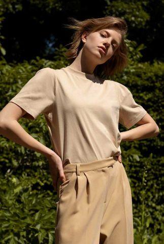crème t-shirt van biologisch katoen gaure t-shirt