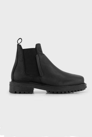 zwarte gladde leren chelsea laarzen botto black nubwaxy