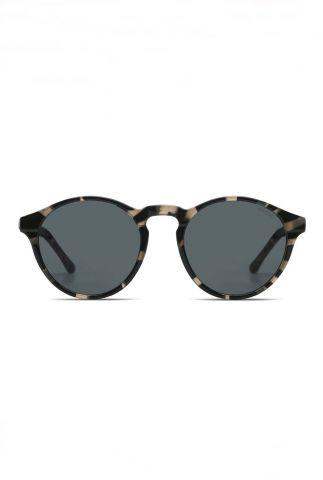 donkergrijze zonnebril met gevlekt dessin devon acapulco kom-s3223