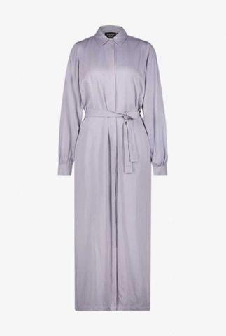 lila maxi jurk met ceintuur dionne dress l/s