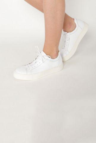 witte leren sneaker donna 16051752  donna sneaker