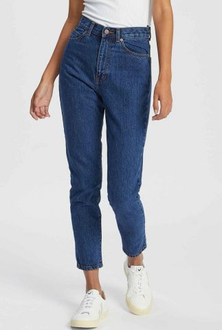donker blauwe mom jeans met high waist nora mid retro 1430113