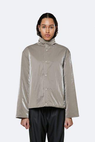 taupe kleurige jas met drukknopen drifter track jacket 1534