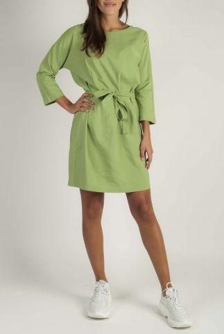 groene midi jurk met ceintuur edison dress