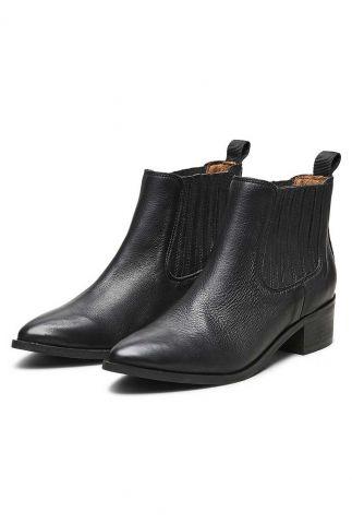zwart leren enkel laarzen 16064275 elena noos