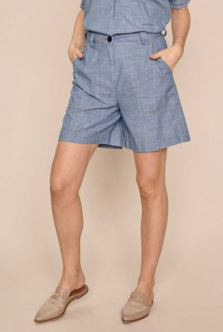 denim blauwe high waist short ellen sky shorts 138940