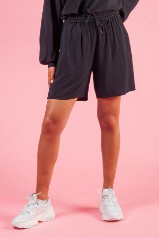 zwarte viscose short met tunnelkoord ellery shorts