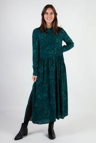 groene maxi jurk met print ellia nimah print