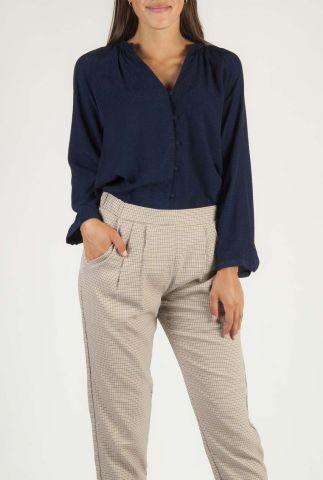 soepel vallende blouse met geweven stippen dessin ellie top