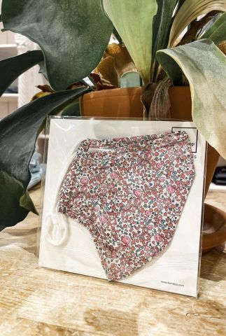 mondkapje met roze bloemen dessin liberty londen fabric eloise