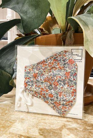 bloemen mondkapje liberty londen fabric emma and gerorgia