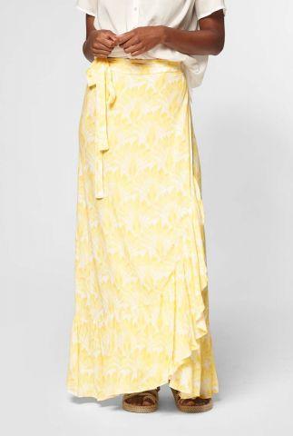 gele wikkelrok met floral print emmy s20.101.7712