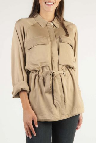 viscose blouse met borstzakje en verstelbare taille enya