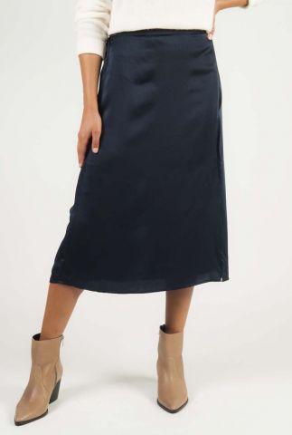 midi rok met elastische band en split esmeralda skirt