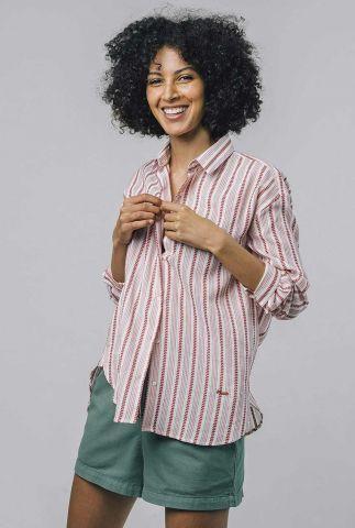 rood met wit gestreepte blouse ethinic stripe blouse 2084