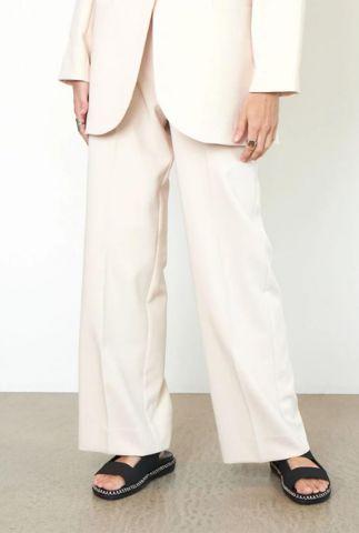 high waist beige broek evie classic trousers