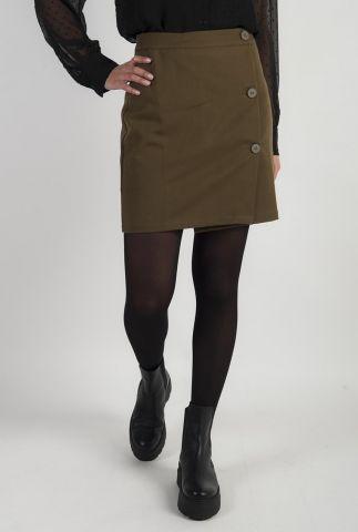 donker groene mini rok met knoopsluitingen faluna e54