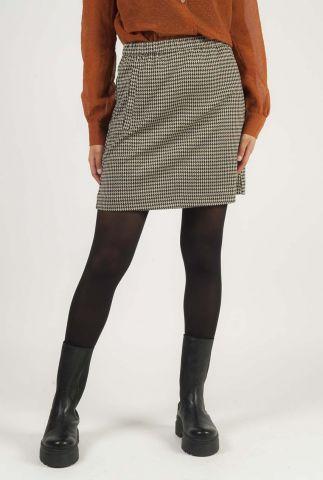 mini rok met pied-de-poule ruiten fawn check skirt