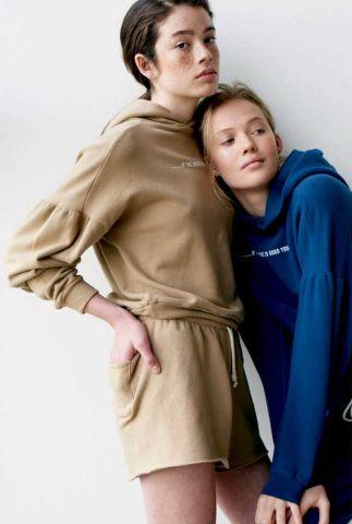 lichtbuine sweater met capuchon en opdruk s21t605ltd