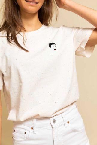 off white t-shirt met Freddie Mercury opdruk freddie t-shirt