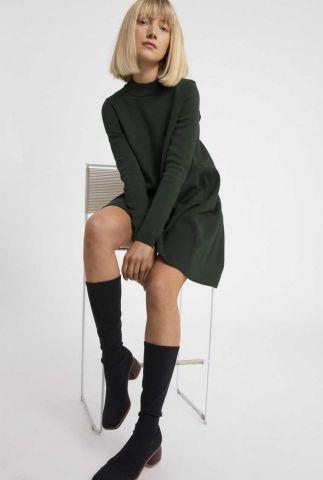donker groene a-lijn jurk friadaa 30003043