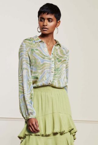 blouse met all-over print frida blouse