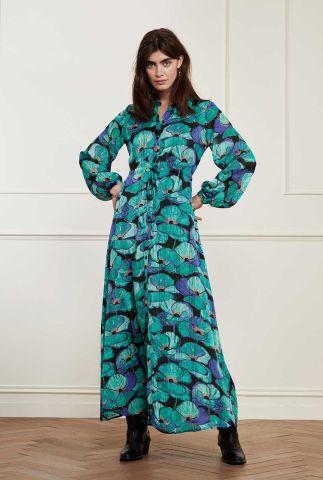 maxi jurk met bloemen dessin frida long dress