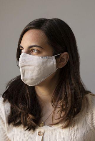 beige verstelbare mond kapje van katoen sharon mask