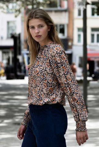 viscose blouse met bloemen dessin gaby sun flower blouse