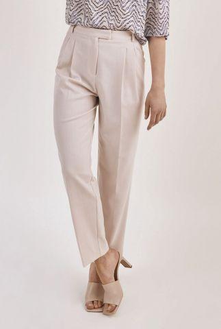 zand kleurige broek met schuifsluiting galane melee pants