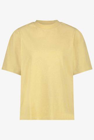 geel t-shirt met van biologisch katoen gaure t-shirt yellow
