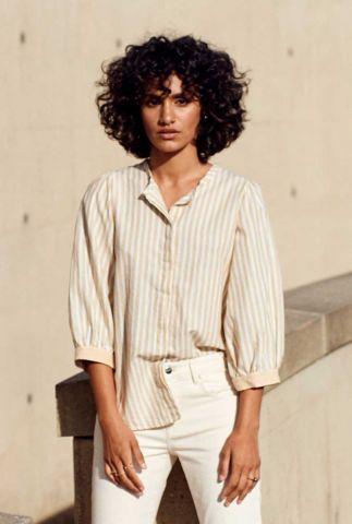 katoenen blouse met streep dessin en 3/4 mouwen camille GB0136