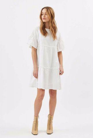 witte jurk met trompet mouwen giral 1610