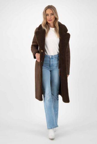 donkerbruine reversible lammy jas midnight coat