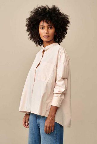 licht roze oversized blouse van katoen gorky p1368