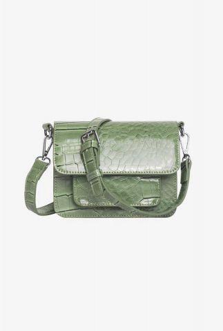 kleine schoudertas met krokodillen dessin h1447 cayman mini