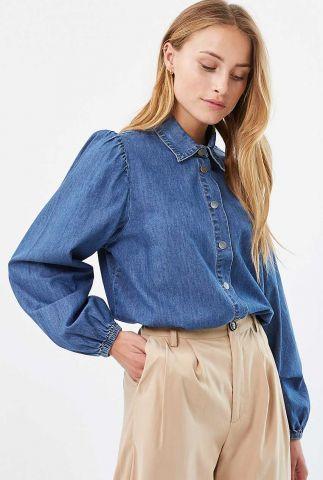 denim blouse met pofmouw hali 1926