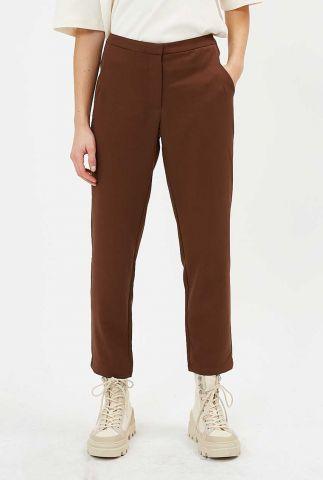 roestkleurige pantalon broek met straight fit halle e54