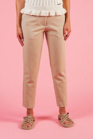 licht bruine pantalon met toelopende pijpen halle e54