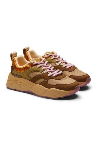 beige dad sneakers met suede details celest 23733440