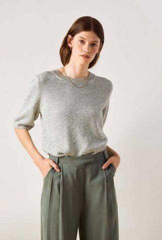 fijn gebreide trui met 3/4 mouw hogyoku knitted pull